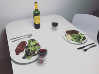 Homemade steak Dinner in Munich
